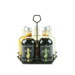 Collection 5 Condiments - 5 bouteilles + huilier