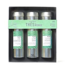 """Coffret bois """"terroirs d'Huiles"""" - 3 huiles d'olive de la Méditérranée"""