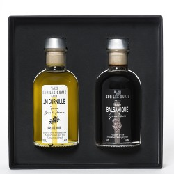 Duo box : Oil (Baux de Provence) & Balsamic Vinegar (Modène)