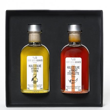 Coffret duo d'huile d'olive parfumée