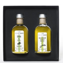 Duo Box : Olive Oil (Sicilian & Perfumed with Basil)