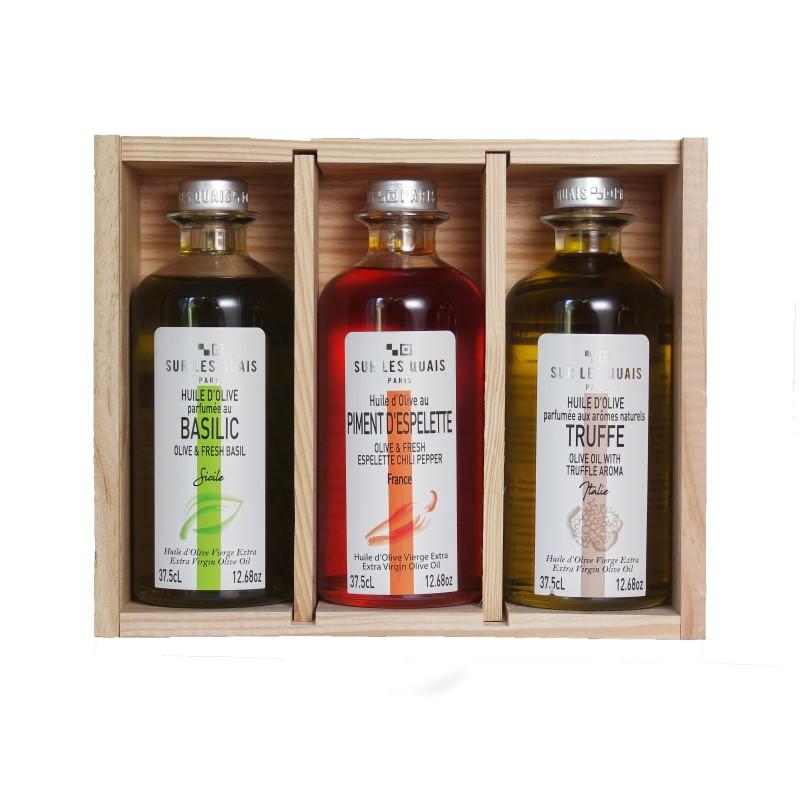 Coffret Découverte Huiles d'Olive Parfumées