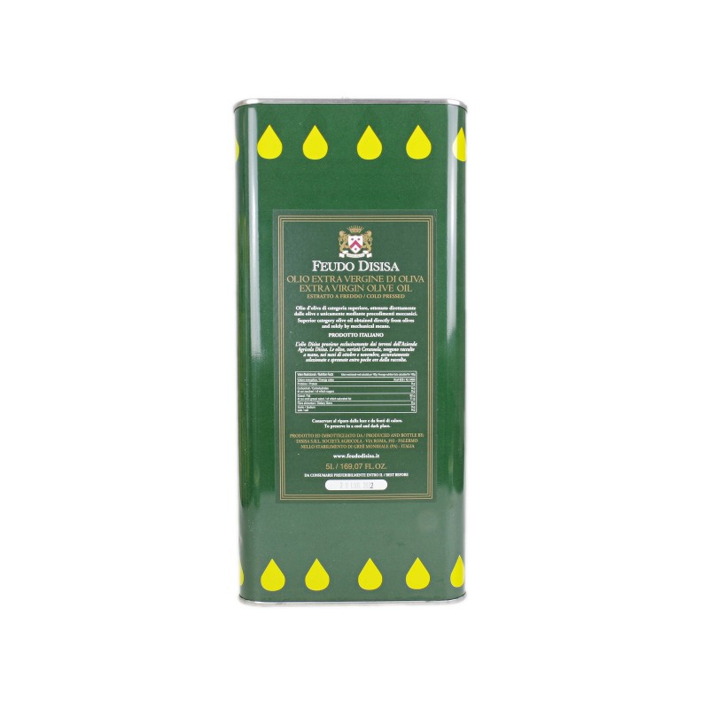 Huile d'Olive Azienda Disisa (Sicile) - Bidon de 5L
