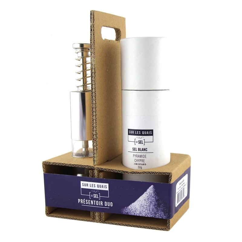 Duo Box Salt Pyramid of Cyprus + Salt mill
