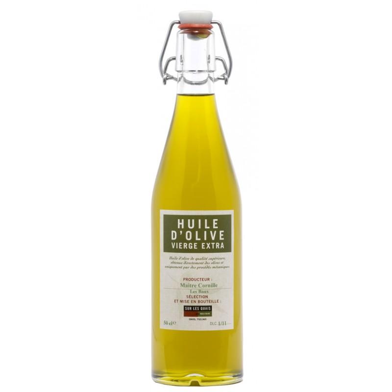 Huile d 39 olive extra vierge jm cornille baux de provence for Huile d olive salon de provence