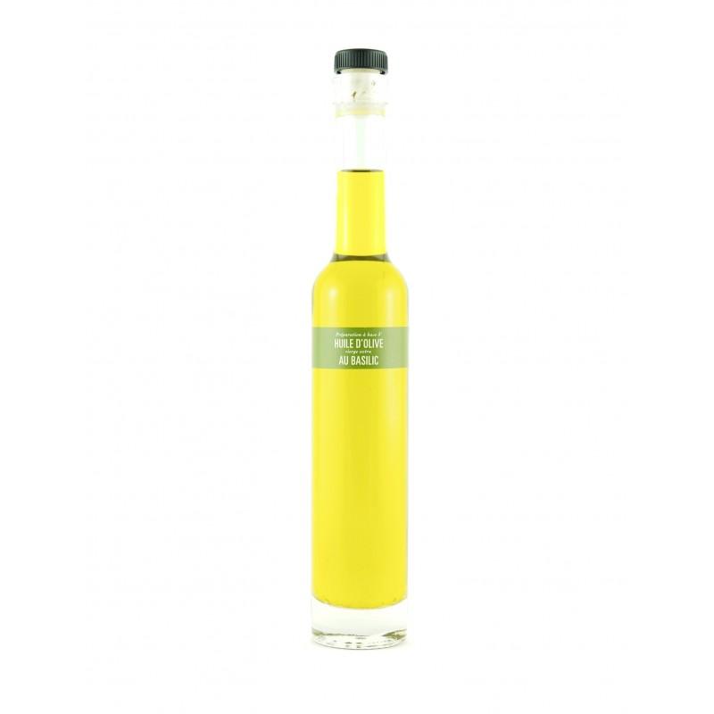 Huile d'Olive parfumée au Basilic de Sicile - 20cl